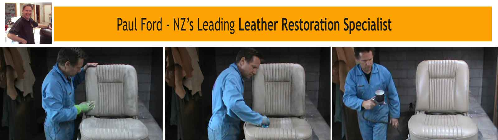 Leather repair and restoration specialist Paul Ford