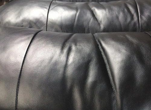 Black Leather Couch After