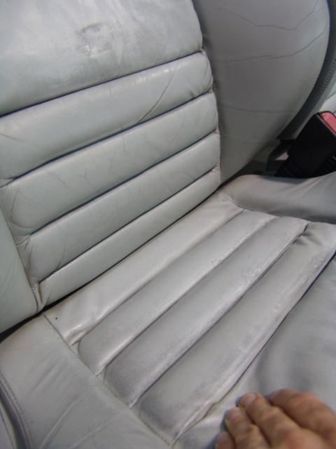discoloured panels drivers seat