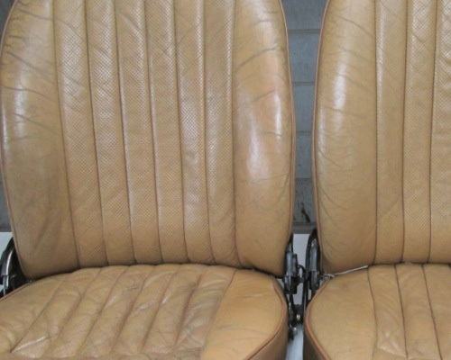 E-type Jag seats before starting