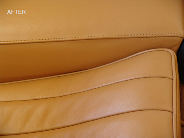 close-up of the rear seat
