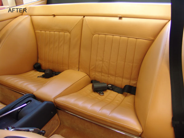 Finished rear seats