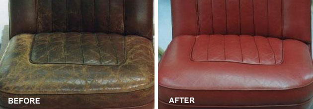 Refinished car leather